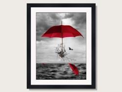 Umbrella Journey Framed Print by Donna O'Donoghue