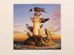 First Light Matted Print by Barry Ross Smith