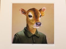 Bobby Matted Print by Barry Ross Smith