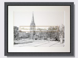 Christchurch Cathedral by Sharyn Ley Framed Print