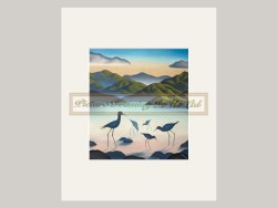 Whanau Matted Print by Mike Glover