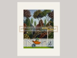Lazy Bones And The Pleasure Garden Matted Print By Hamish Allan