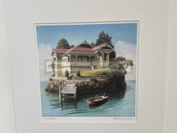 The Retreat Matted Print by Barry Ross Smith