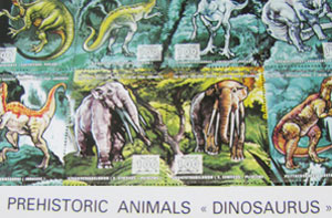 dinosaurs on Libyan stamps