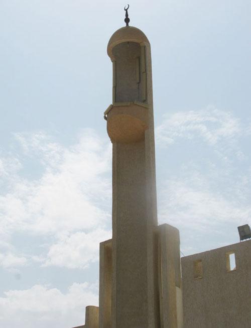 open minaret mosque