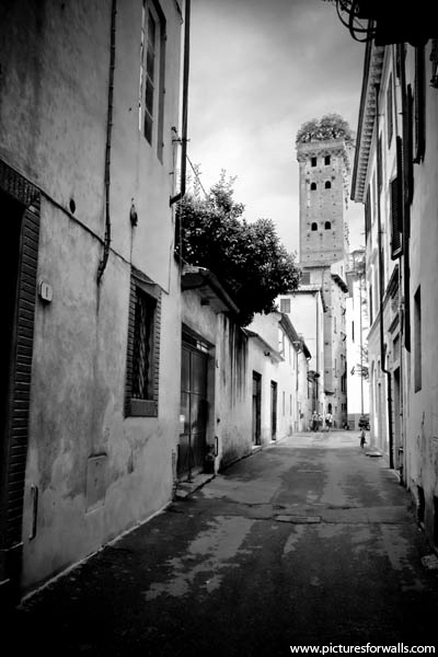lucca italy black and white photography