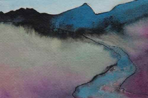 Mountain Stream (sold) - Scotland Landscape Painting