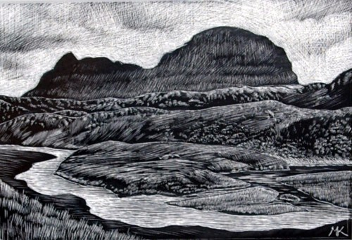 Suilven from Suileag - Scotland Landscape Painting