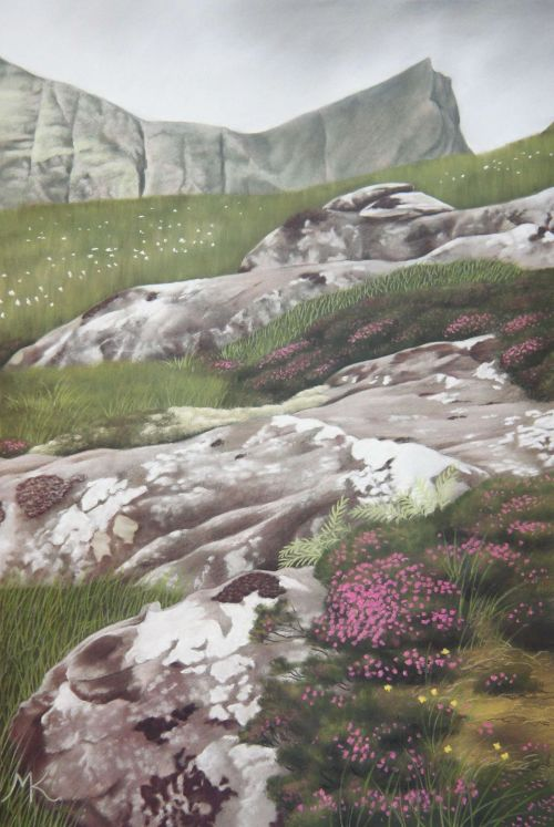 Rocks and Heather - Scotland Landscape Painting