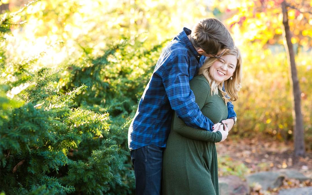 Katie + Jonathan | Woodward Park Engagement Tulsa, Oklahoma