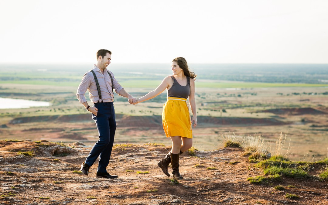 Valerie + Michael | Gloss Mountain State Park Engagement | Enid, Oklahoma
