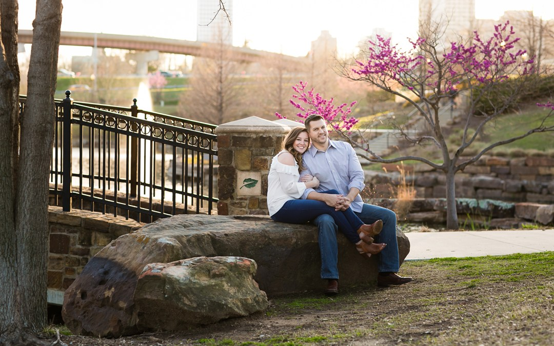 Jessica + Jim | Downtown Tulsa and Centennial Park Engagement
