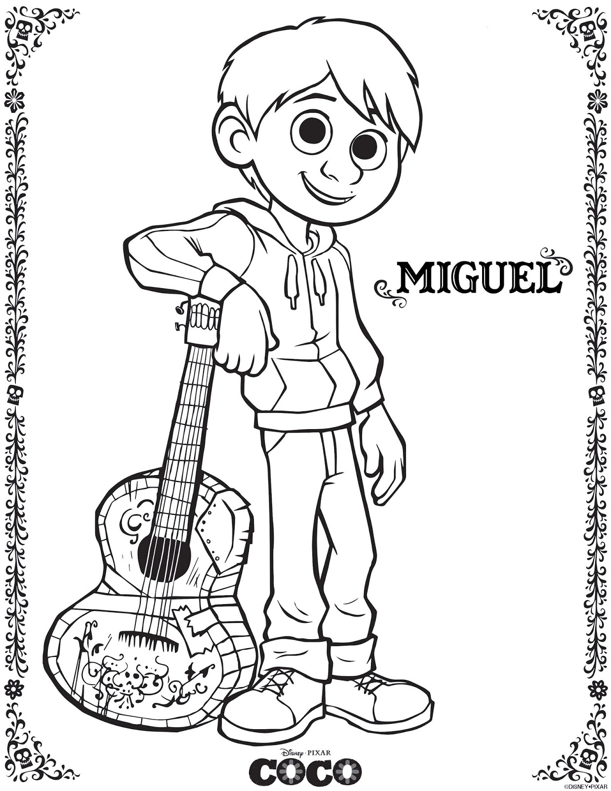 Coco Coloring Pages April Edition