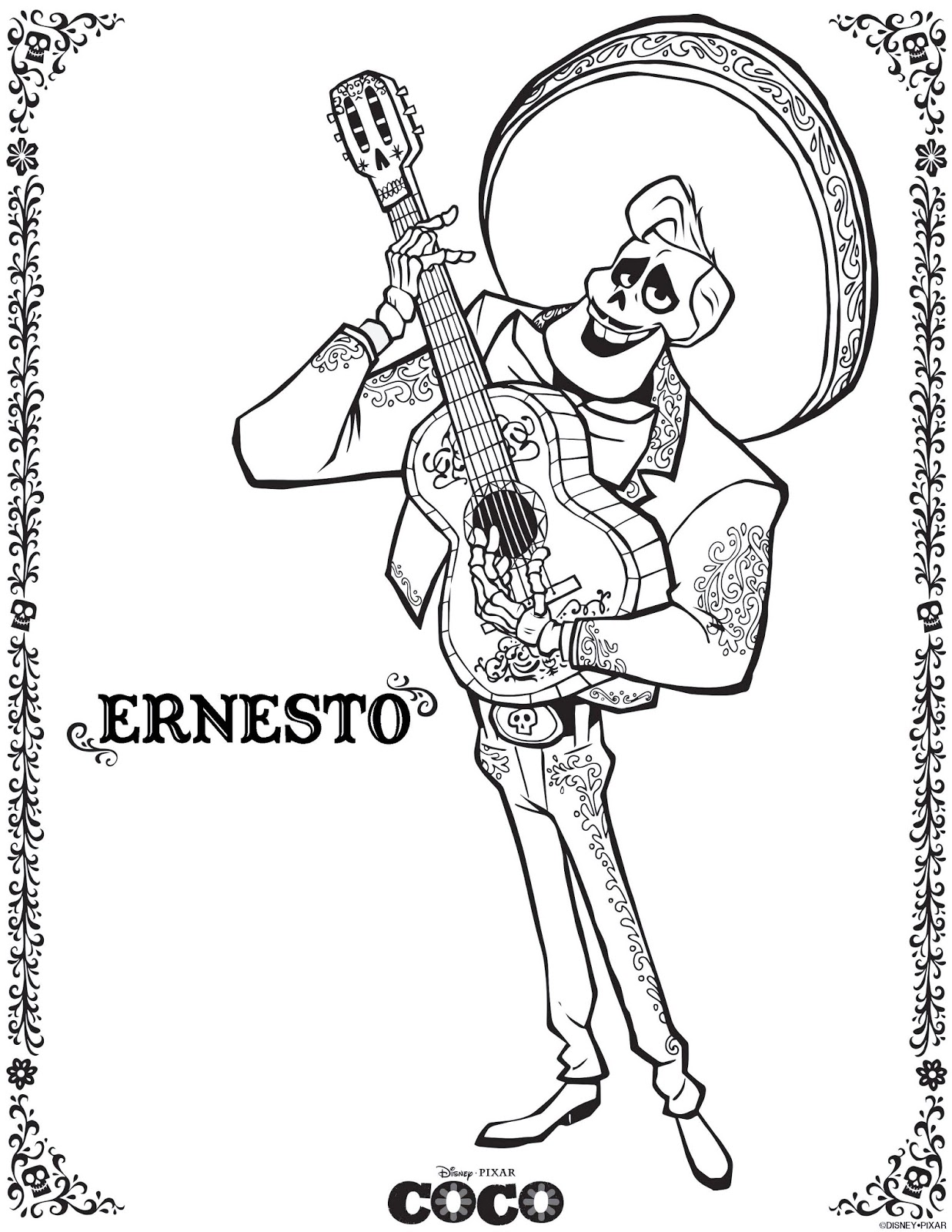 Coco Coloring Pages March Edition