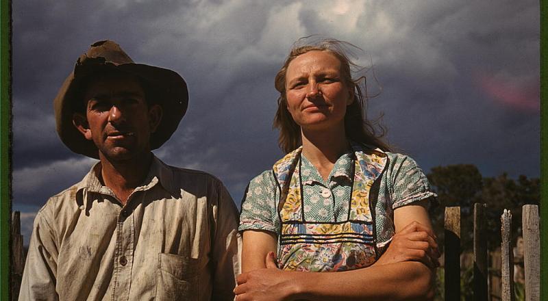 Faro and Doris Caudill, homesteaders, Pie Town, New Mexico (LOC)
