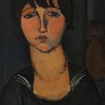 """Modigliani - """"La femme en blouse marine"""""""