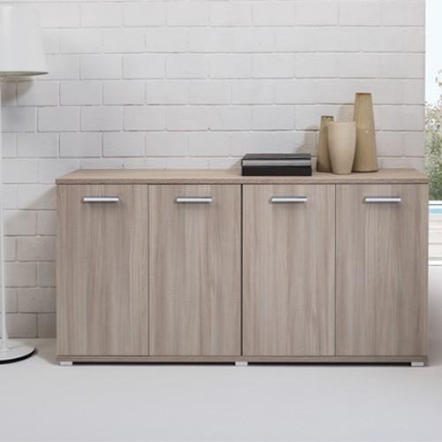 Mobili cucina componibili · mobili singoli per cucina. Credenza Buffet Cucina 80x180x45 Cm Mobiletto Multiuso 180 Cm Olmo Con 4 Ante Ideale In Soggiorno