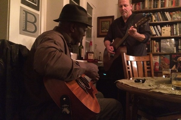 Pre-gaming with Sam Ligon and Gary Lilley - photo by Kristen Young