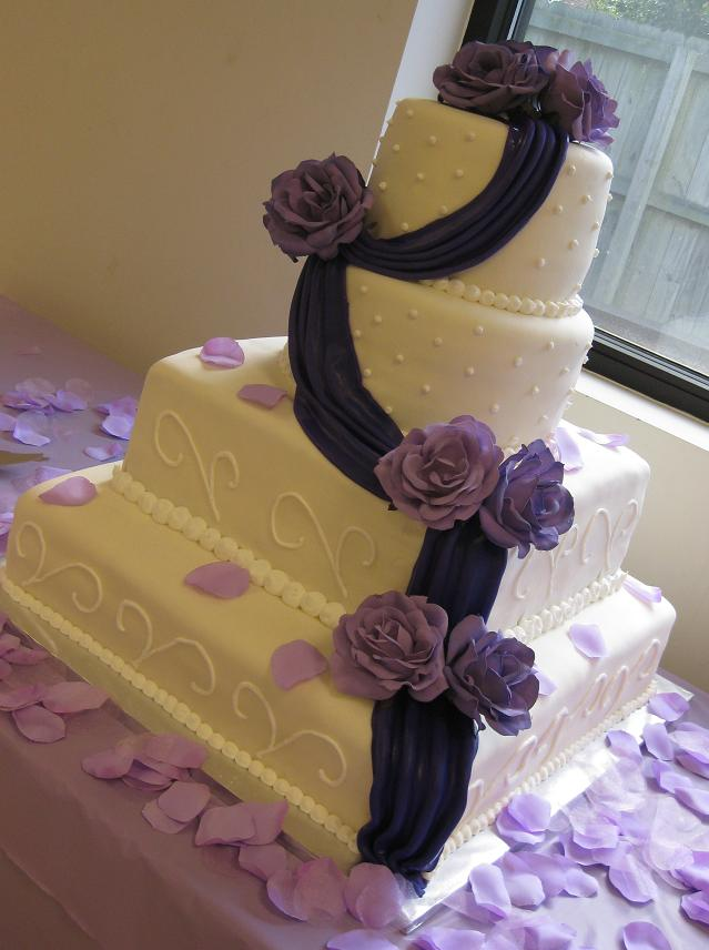Square Wedding Cakes Pictures and Design Ideas