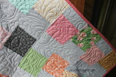 Batiks and Babies - quilting detail - piecefulthoughts.com