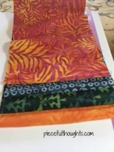 Tropical Pumpkins - Island Batik fabrics - piecefulthoughts.com