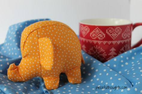 Little Elephant and Cup - piecefulthoughts.com