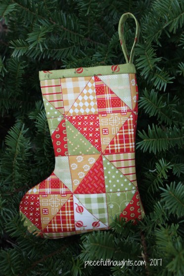 Little Christmas Project - Patchwork Stocking - piecefulthoughts.com