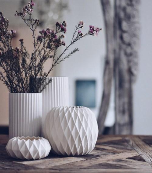 PIECE of DENMARK porcelæns vase og skål GUBEL