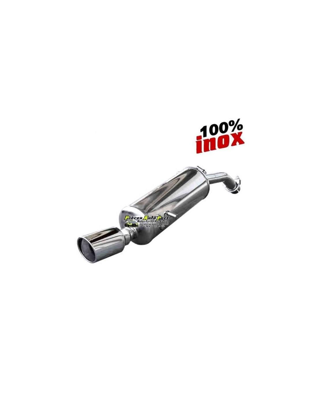 Silencieux Sportif Inox Simple Sortie X Race 90mm Opel
