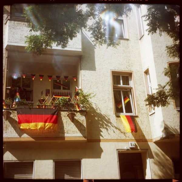 wm, neukölln, krauts, fahnen, c-print, bilder - Pieces of Berlin - Book and Blog