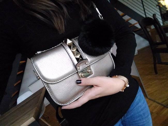 Valentino Glam Lock metallic