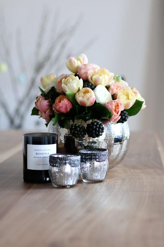 Esszimmer Loft Blumen Dekoration