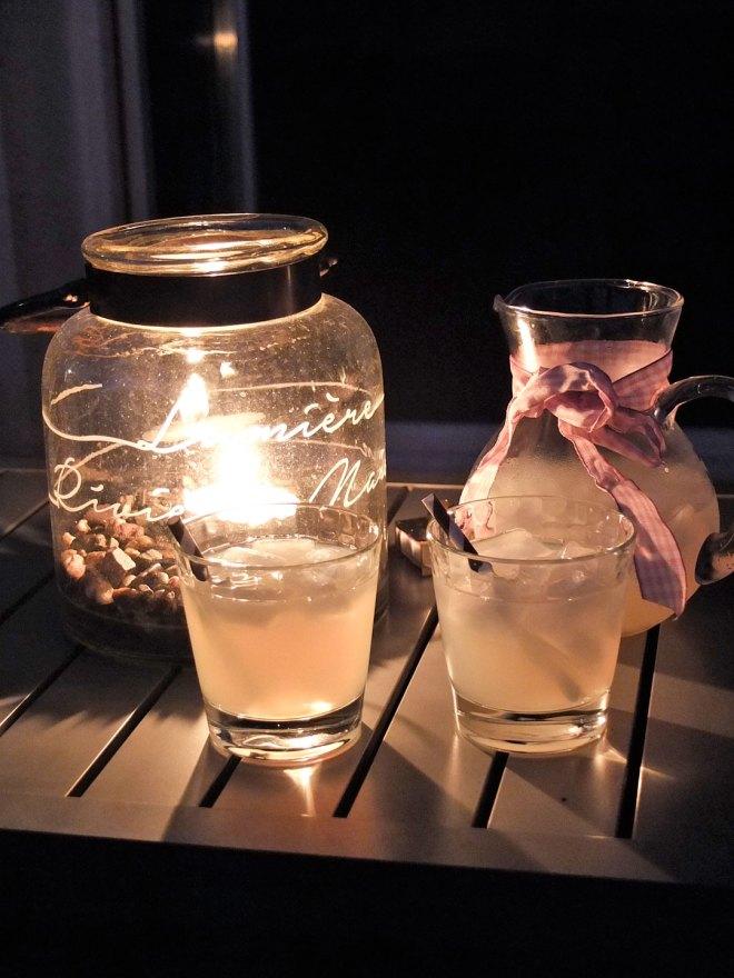 Sommer auf der Terrasse mit Margaritas