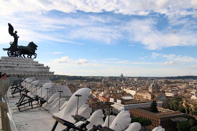 Meine 5 Highlights in Rom - Aussichtsplattform auf dem Monument Vittorio Emanuele II