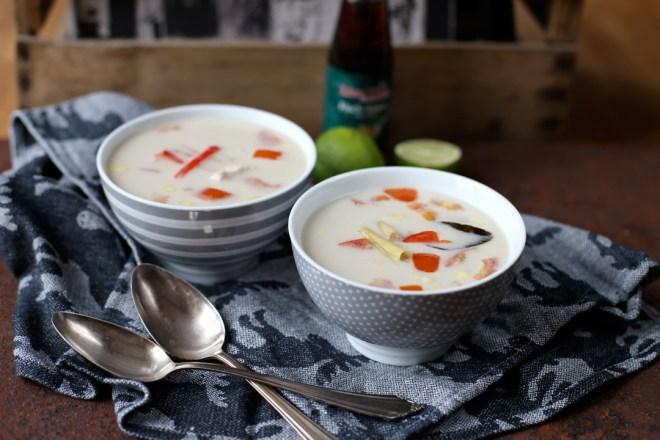 Rezept Tom Kha Gai Suppe, Thailändische Hühnersuppe mit Kokosmilch