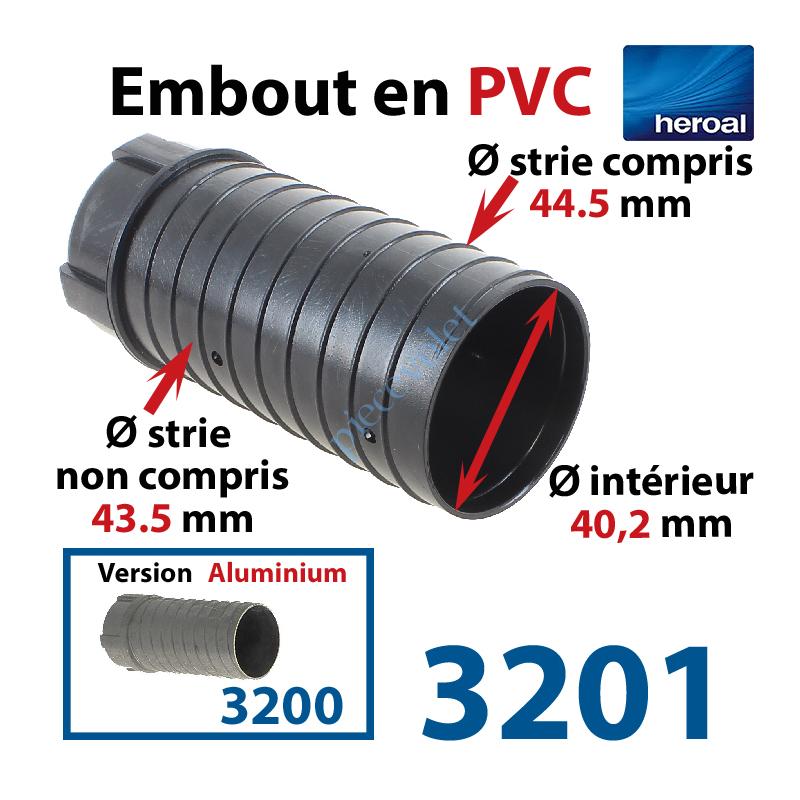 heroal 3201 embout plastique abs pour tube rond o 40 ou 47 porte roulement o 28 mm porte poulie de sangle