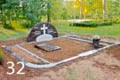 Sarkanabrūna granīta kapu sētiņa