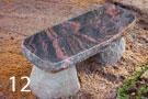 Скамейка из красного гранита с каменными ножками