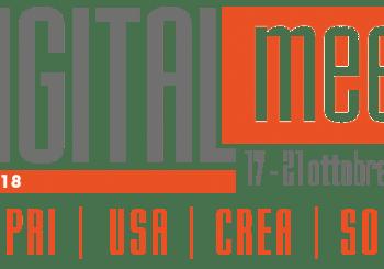 Piemonte Digitale organizza le attività in regione di Digital Meet 2018 dal 17 al 21 ottobre: proponete il vostro evento