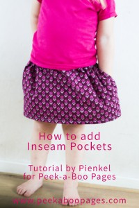 How to add inseam pockets? A tutorial by Pienkel for Peek-a-Boo Pages.