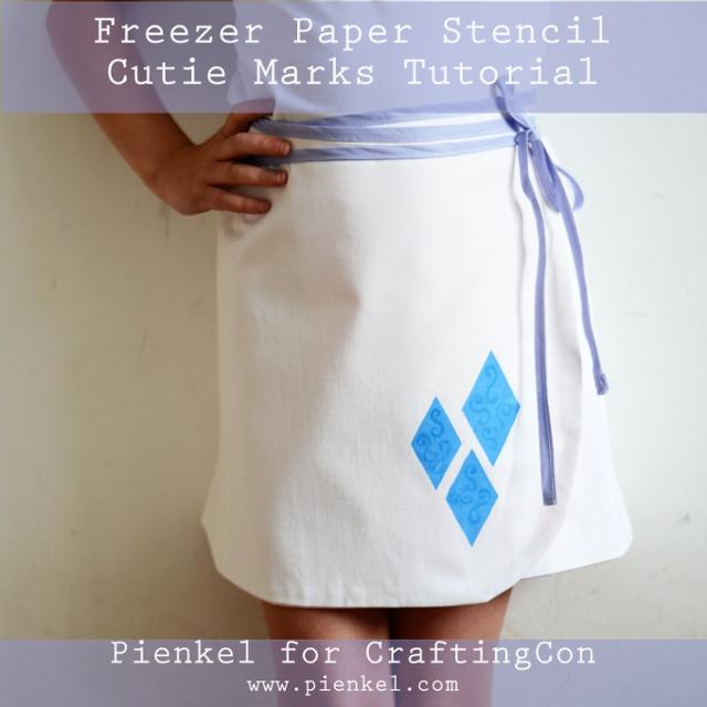 MLP Freezer Paper Stencil Cutie Marks Tutorial