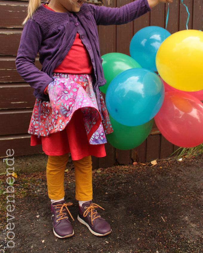 DYYNI skirt pattern, sz 2y-16y, designed by Pienkel. Sewn by Boevenbende. www.pienkel.com