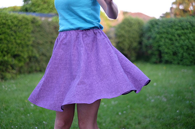 Dyyni Ladies Skirt Pattern by Pienkel, sewn and photo by Trijnewijn