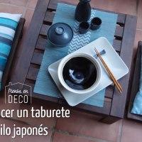 taburete japonés para sentarte en el suelo