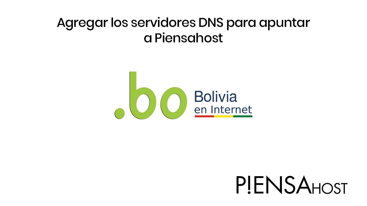 Como cambiar los servidores de nombre de dominio (DNS) en Nic.BO para que apunten a Piensahost