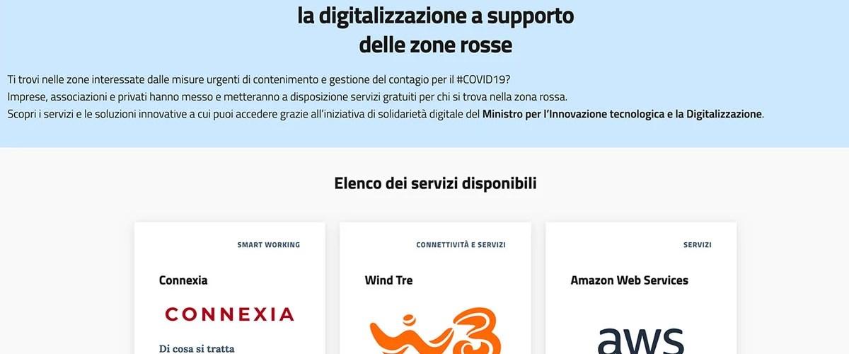 solidarieta digitale coronavirus