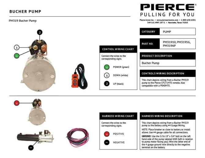 pump wiring diagrams  pierce arrow inc