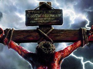 bloody crucified Christ