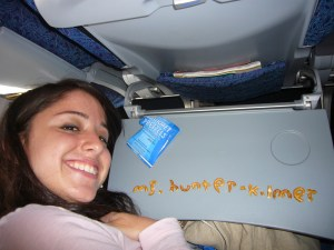 My (excessively long) name. Out of airplane pretzels. Now that's a labor of love.