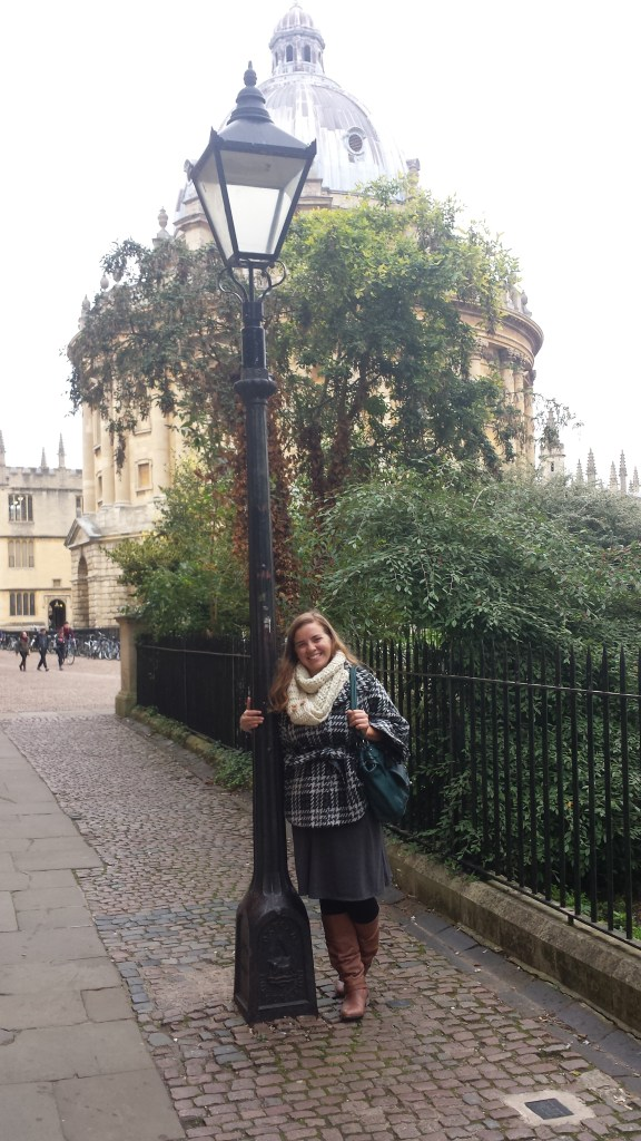 With the lamp post that inspired the Chronicles of Narnia. I almost died.